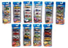 Hotwheels - Assortment/ Mix Hotwheels CARS - Mat1806-962E : Hotwheels 5 car gift pack dash 962E