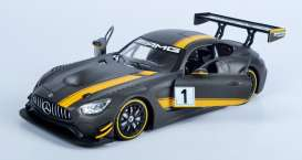 Motor Max - Mercedes  - mmax73784 : 2016 Mercedes AMG GT3 race version, black/yellow