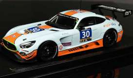 Mercedes Benz AMG - AMG GT3 #30 2016 gulf blue/orange - 1:18 - Paragon - 88021 - para88021 | Tom's Modelauto's