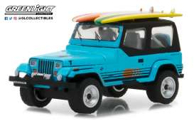 Jeep  - 1987 blue - 1:64 - GreenLight - gl97020C | Tom's Modelauto's