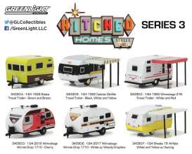 GreenLight - Assortment/ Mix  - gl34030~12 : 1/64 Hitched homes series 3 assortment of 12