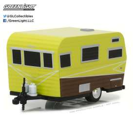 GreenLight - Siesta Travel Trailer  - gl34030A : 1958 Siesta *Hitched homes series 2*, green/brown
