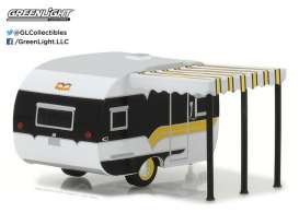 GreenLight - Catolac DeVille Travel Trailer  - gl34030B : 1959 Catolac DeVille *Hitched homes series 2*,  black/white/yellow