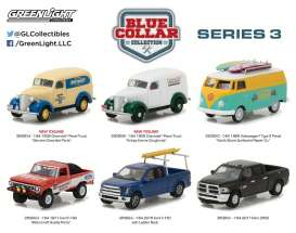GreenLight - Assortment/ Mix  - gl35080~12 : 1/64 *Blue Collar Series 3* assortment of 12.