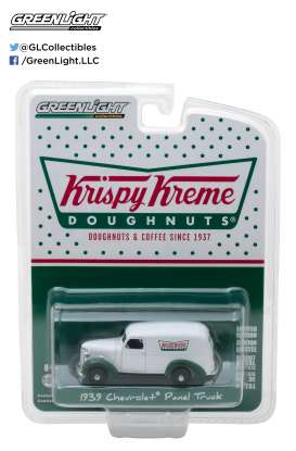 GreenLight - Chevrolet  - gl35080B : 1939 Chevrolet Panel Truck *Krispy Kreme Doughnuts* (Blue Collar Series 3)