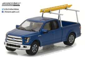 GreenLight - Ford  - gl35080E : 2015 Ford F-150 with Ladder Rack *Motorcraft Quality Parts* (Blue Collar Series 3)
