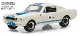 Shelby  - 1965 white/blue - 1:64 - GreenLight - gl29918 | Tom's Modelauto's