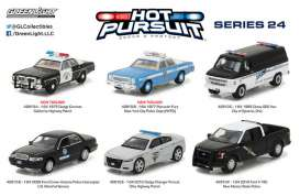 GreenLight - Assortment/ Mix  - gl42810~12 : 1/64 Hot Pursuit series 24, assortment of 12.