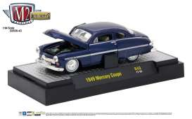 M2 Machines - Mercury  - M2-32500-43A : 1949 Mercury Coupe *Auto-Thentics Release 43*, blue metallic