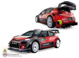 Norev - Citroen  - nor181630 : 2017 Citroen C3 WRC Official Presentation Version