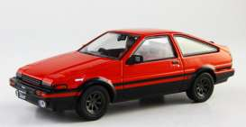 Kyosho - Toyota  - kyo3892r : Toyota Sprinter Trueno (AE86) 8 spoke wheel, red/black