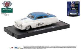 M2 Machines - Mercury  - M2-11228-42A : 1949 Mercury Custom *M2-Drivers Release 42* white/dark blue metallic