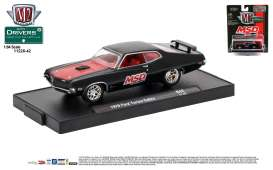 M2 Machines - Ford  - M2-11228-42E : 1970 Ford Torino Cobra *M2-Drivers Release 42* gloss black