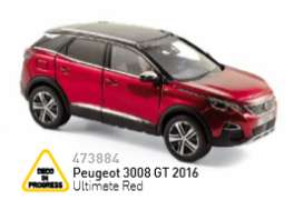 Peugeot  - 2016 ultimate red - 1:43 - Norev - nor473884 | Tom's Modelauto's