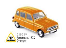 Peugeot  - 1974 orange - 1:43 - Norev - nor510039 | Tom's Modelauto's