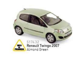 Renault  - 2007 almond green - 1:43 - Norev - 517432 - nor517432 | Tom's Modelauto's