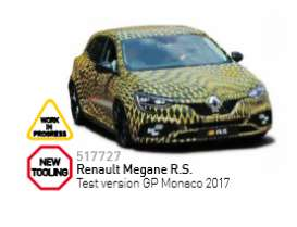 Norev - Renault  - nor517727 : 2017 Renault Megane R.S. Test Version GP Monaco