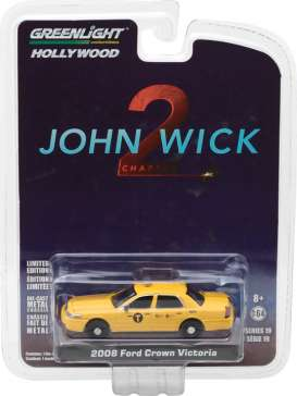 GreenLight - Ford  - gl44790F : 2008 Ford Crown Victoria Taxi *John Wick: Chapter 2 (2017)* Hollywood series 19