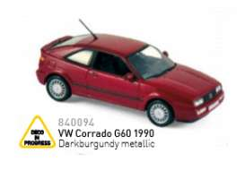 Volkswagen  - 1990 darkburgundy metallic - 1:43 - Norev - nor840094 | Tom's Modelauto's