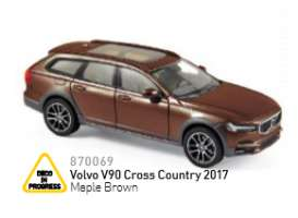 Norev - Volvo  - nor870069 : 2016 Volvo V90 Cross Country, maple brown