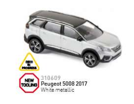 Norev - Peugeot  - nor310609 : 2017 Peugeot 5008, white metallic
