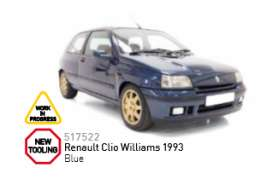 Norev - Renault  - nor517522 : 1993 Renault Clio Williams (Jet Car), blue