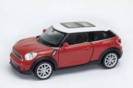 Welly - Mini  - welly43685r : 1/34-1/39 Mini Cooper S Paceman, red/white roof