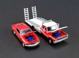 Ford Mustang - 1969 red/white - 1:64 - Acme Diecast - acme51139 | Tom's Modelauto's