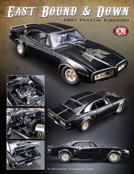 Acme Diecast - Pontiac  - acme1805207 : 1967 Pontiac Firebird *East Bound Down*, black/gold