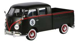 Motor Max - Volkswagen  - mmax79562 : Volkswagen Type 2 (T1) Pickup Hot Rod 8 ball, matt black/red