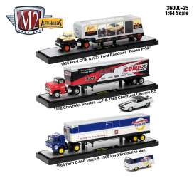 M2 Machines - Assortment/ Mix  - m2-36000-25~3 : 1/64 Auto Haulers series 25, assortment of 3 pieces