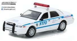 GreenLight - Ford  - gl42822 : 2011 Ford Crown Victoria Police New York City Police Dept (NYPD) Auxiliary with NYPD Squad Number Decal Sheet *Hot Pursuit* (Hobby Exclusive)