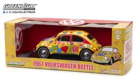 GreenLight - Volkswagen  - gl13509 : 1967 Volkswagen Beetle Right-Hand Drive *Hippie Peace & Love*