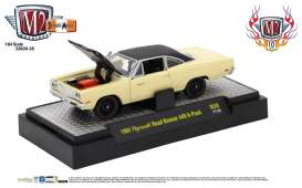 M2 Machines - Plymouth  - M2-32600-38B : 1969 Plymouth Road Runner 440 6-Pack *Detroit-Muscle Release 38* yellow/black