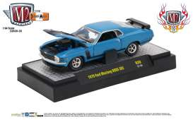 M2 Machines - Ford  - M2-32600-38E : 1970 Ford Mustang BOSS 302 *Detroit-Muscle Release 38* dark aqua metallic