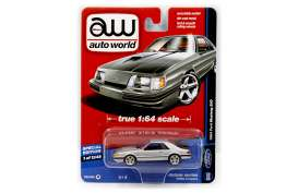 Auto World - Ford  - AW64051A : 1984 DC Deluxe Ford Mustang SVO, silver