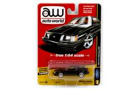 Auto World - Ford  - AW64051B : 1984 DC Deluxe Ford Mustang SVO, black