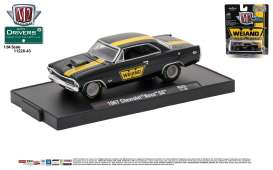 M2 Machines - Chevrolet  - M2-11228-43C : 1967 Chevrolet Nova SS *Weiand* (M2-Drivers Release 43), gloss black