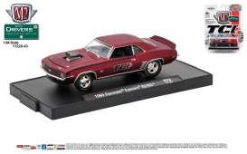 M2 Machines - Chevrolet  - M2-11228-43D : 1969 Chevrolet Camaro SS/RS *TCI Automotive* (M2-Drivers Release 43), bright satin red/black stripes