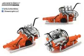 Ford Engine - 1932 chrome/orange - 1:18 - GreenLight - gl12977 | Tom's Modelauto's