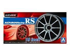 Aoshima - Wheels & tires  - abk15378 : 1/24 Advan Racing 19 inch, plastic modelkit