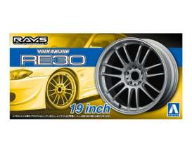 Aoshima - Wheels & tires  - abk15381 : 1/24 Volk Racing RE30 19inch, plastic modelkit