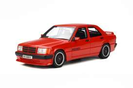 OttOmobile Miniatures - Peugeot  - otto674 : 1/18 Brabus 190E 3.6S (W 201) *Resin Series*, signal red