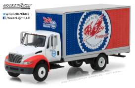 GreenLight - International  - gl33110C : 2013 International Durastar Box Van Pure Oil Co. Firebird Racing Gasoline *H.D. Truck series 11*, white/blue/red
