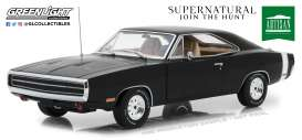 Dodge  - Charger *Supernatural* 1970 black - 1:18 - GreenLight - 19046 - gl19046 | Tom's Modelauto's