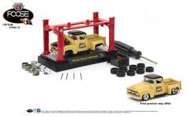 M2 Machines - Ford  - M2-37000-14A : 1965 Ford F-100 Truck *M2 Model kit series 14*, creme/black
