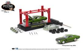 "M2 Machines - Ford  - M2-37000-14D : 1970 Ford Mustang ""Foose"" Gambler 514 *M2 Model kit series 14*, lime pearl/black stripes"