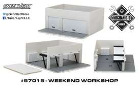 GreenLight - Accessoires  - gl57015 : 1/64 Weekend Workshop Plain White (Hobby Exclusive) *Mechanic's Corner*, white
