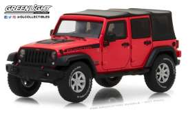 Jeep  - Wrangler Rubicon Unlimited 2017 red - 1:43 - GreenLight - gl86093 | Tom's Modelauto's