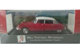 Citroen  - DS 1963 red/white top - 1:43 - Magazine Models - magATds | Tom's Modelauto's